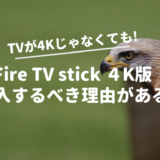 「Fire TV stick 4K」を4K対応テレビじゃなくても購入するべき理由がある